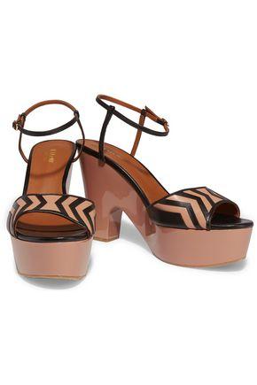 MALONE SOULIERS Gilda paneled leather platform sandals