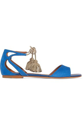 MALONE SOULIERS Gladys tassel-trimmed suede sandals
