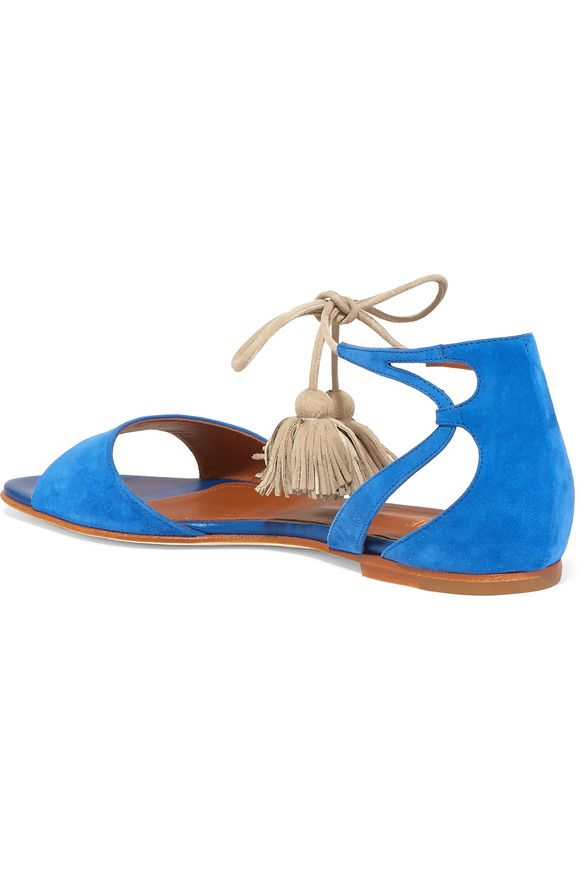 Gladys tassel-trimmed suede sandals | MALONE SOULIERS | Sale up to 70% off  | THE OUTNET