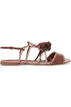 MALONE SOULIERS Ruth tassel-trimmed leather sandals