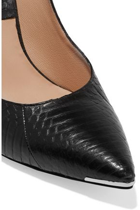MICHAEL KORS COLLECTION Avra snake-effect leather pumps