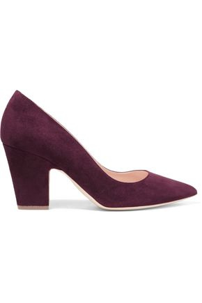 RUPERT SANDERSON Pierrot suede point-toe pumps