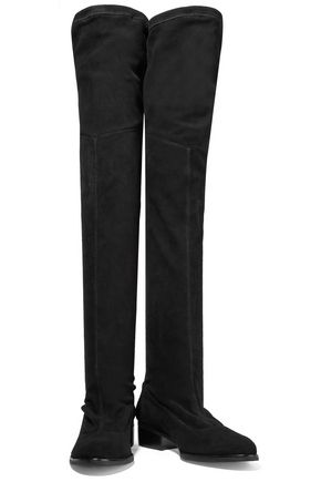 SCHUTZ Marcy stretch-suede over-the-knee-boots