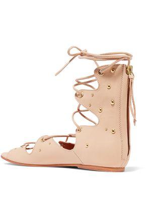 IRO Xiri studded leather lace-up sandals