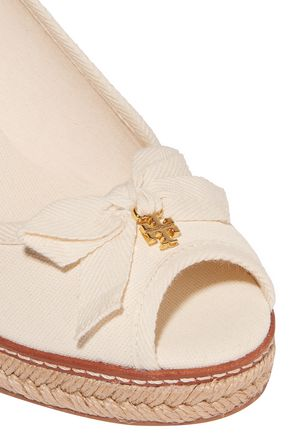 TORY BURCH Jackie canvas wedge sandals