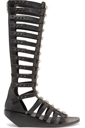RICK OWENS Embellished leather sandals