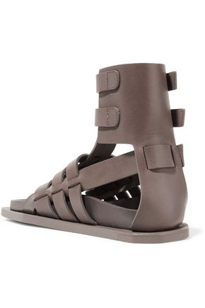 RICK OWENS Woven leather sandals