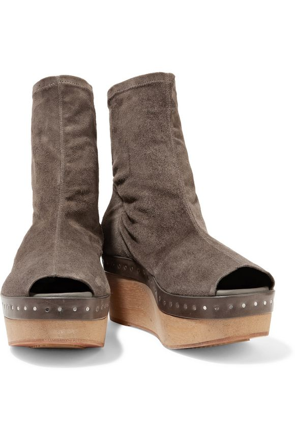 Suede platform ankle boots   RICK OWENS   Sale up to 70% off   THE OUTNET