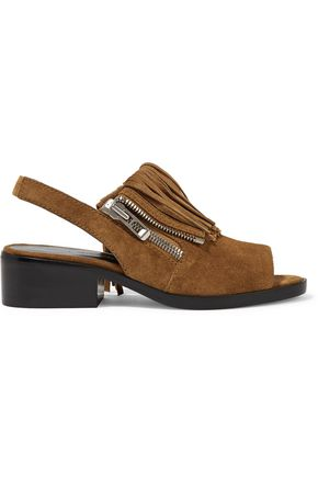 3.1 PHILLIP LIM Alexa fringed suede slingback sandals