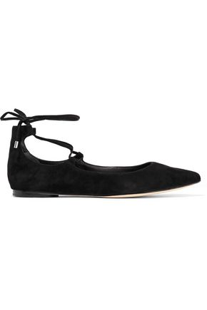 SIGERSON MORRISON Viata lace-up leather flats