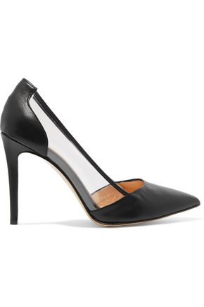 8 PVC-paneled leather pumps