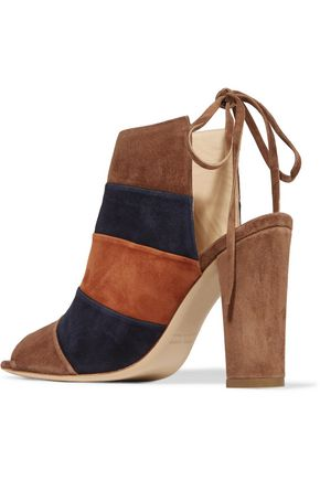 8 Color-block suede mules