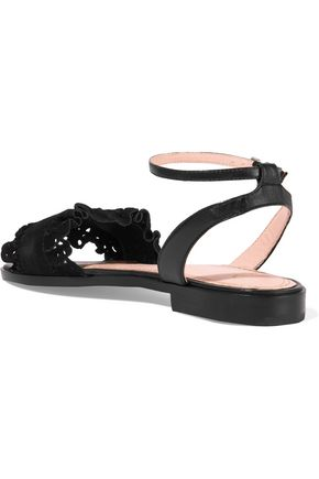 MAJE Laser-cut suede sandals