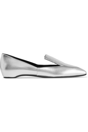 PIERRE HARDY Polly metallic leather loafers
