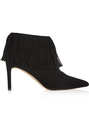 SAM EDELMAN Kandice fringed suede ankle boots