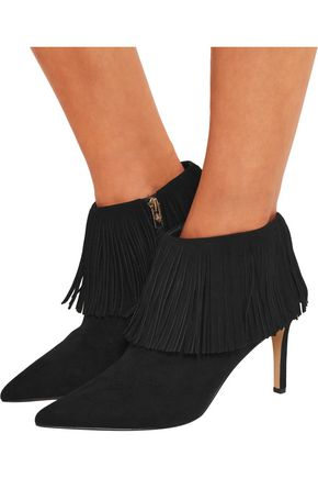 dc926b38c7d6 ... SAM EDELMAN Kandice fringed suede ankle boots ...