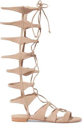 SCHUTZ Shyla lace-up suede gladiator sandals