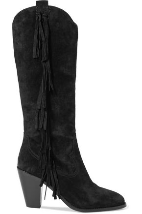 ASH Imala tasseled suede knee boots