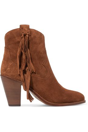 ASH Isha tassel-trimmed suede ankle boots