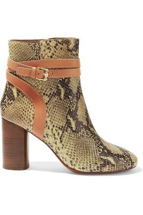ASH Glenda snake-effect leather ankle boots