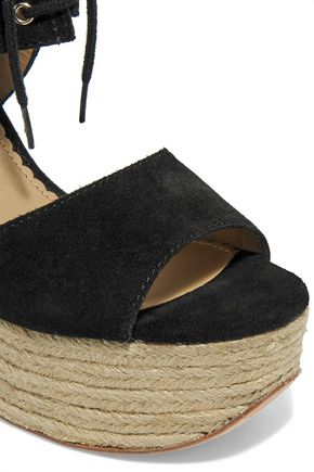 ASH Belinda fringed suede wedge sandals