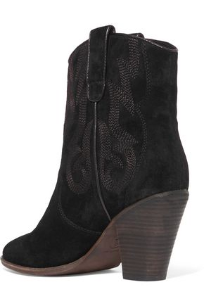 ASH Joe embroidered suede ankle boots