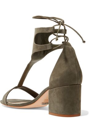 SCHUTZ Lutecia lace-up nubuck sandals
