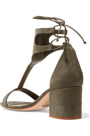 SCHUTZ Lutecia lace-up nubuck sandals