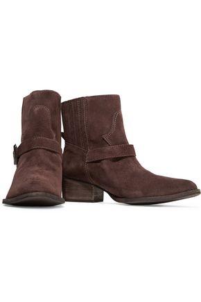 SCHUTZ Pedina buckled suede boots