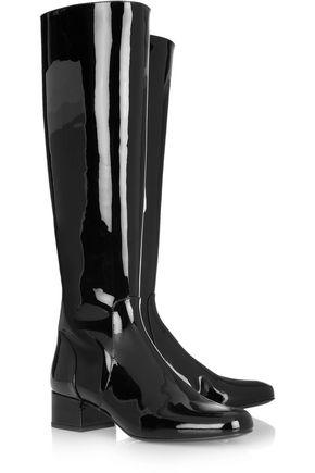 SAINT LAURENT Patent-leather knee boots