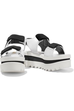 STELLA McCARTNEY Grosgrain-trimmed rubber platform sandals