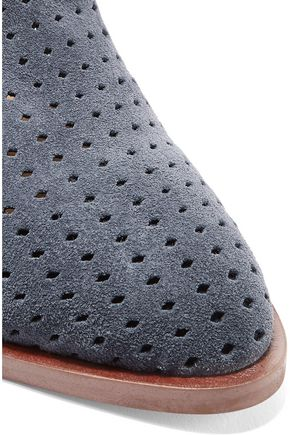 SAM EDELMAN Bates perforated suede mules