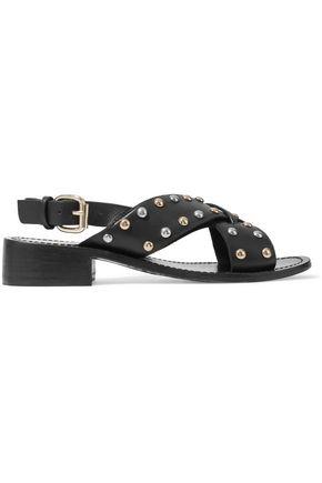 MAJE Fidji studded leather sandals