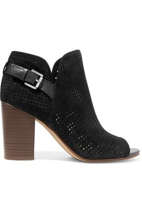SAM EDELMAN Easton perforated suede ankle boots