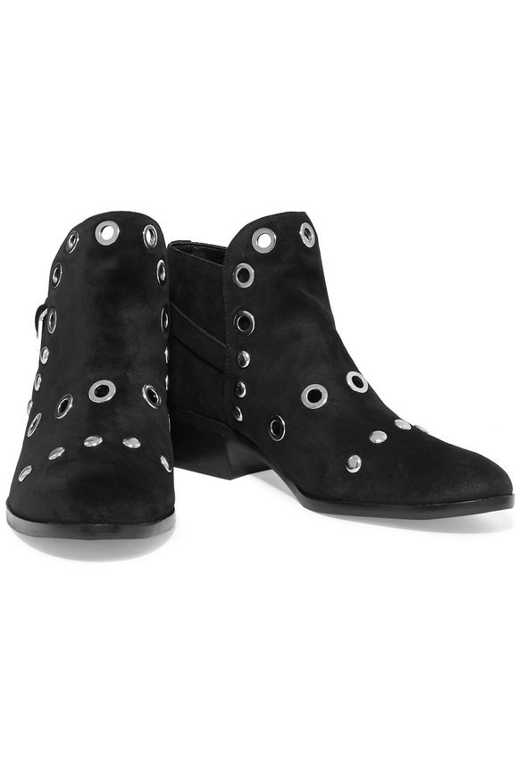 29d73ee014285b Pedra embellished suede ankle boots