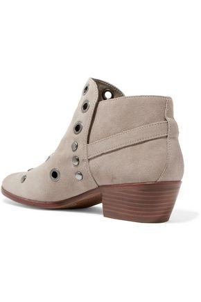SAM EDELMAN Pedra embellished suede ankle boots