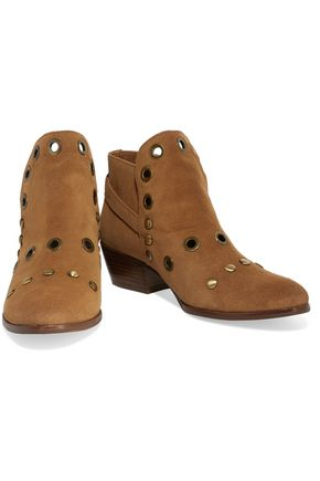 ddb34fa6a1a50f ... SAM EDELMAN Pedra embellished suede ankle boots ...