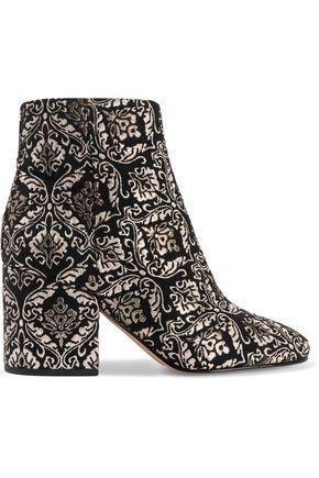 SAM EDELMAN Metallic jacquard ankle boots