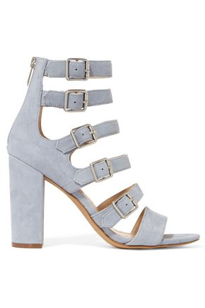 SAM EDELMAN Yasmina buckled suede sandals