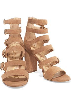 SAM EDELMAN Yasmina buckled suede sandals