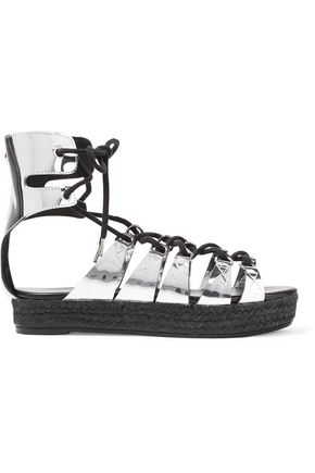 McQ Alexander McQueen Mirrored leather platform sandals