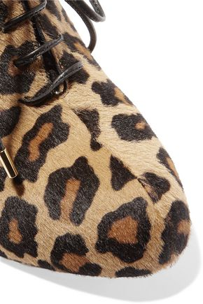 CHARLOTTE OLYMPIA Alice leopard-print calf hair boots