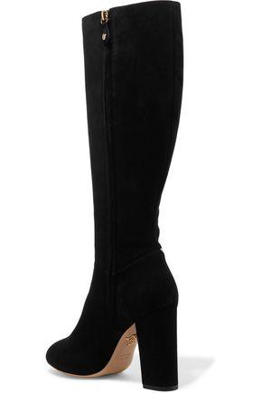 CHARLOTTE OLYMPIA Barbara metallic appliquéd suede boots