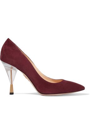 CHARLOTTE OLYMPIA Juliette suede pumps