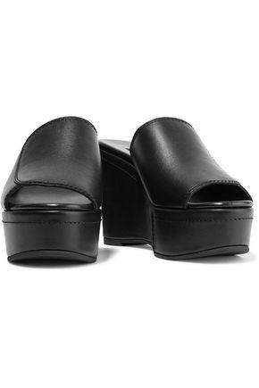 NEWBARK Louisa leather wedge sandals
