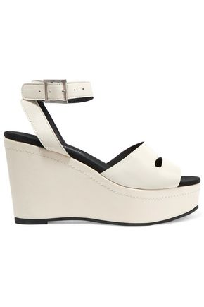 NEWBARK Maggie leather wedge sandals