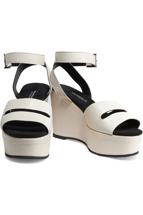 NEWBARK Maggie leather wedge sandals
