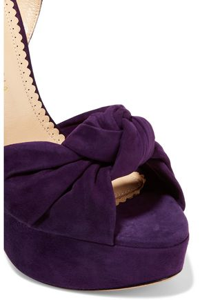 CHARLOTTE OLYMPIA Vreeland knotted suede platform sandals