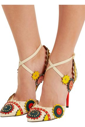CHARLOTTE OLYMPIA Mechanix studded leather pumps