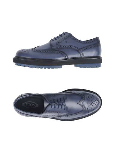 Купить Обувь на шнурках грифельно-синего цвета